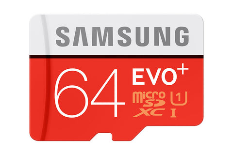 Samsung T-Flash Evo Plus 64GB MicroSDHC Class 10 (MB-MC64DA/EU) Memory Card with Adapter