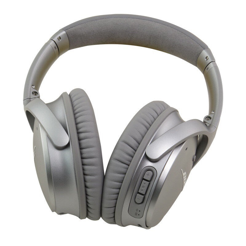 Bose Quietcomfort 35 (QC35) Wireless Noise Cancelling Headphones for Apple and Android (Silver)