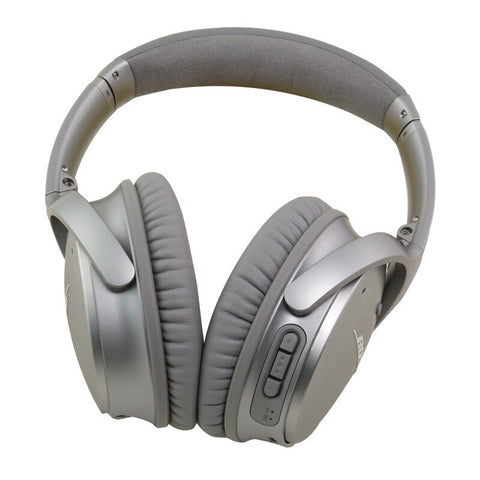 Bose Quietcomfort 35 (QC35) Wireless Noise Cancelling Headphones for Apple (Silver)