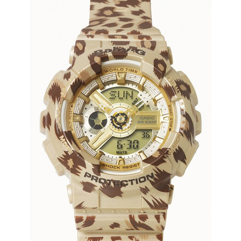 Casio Baby-G ANalog-Digital Leopard Series BA-110LP-9 Watch (New with Tags)