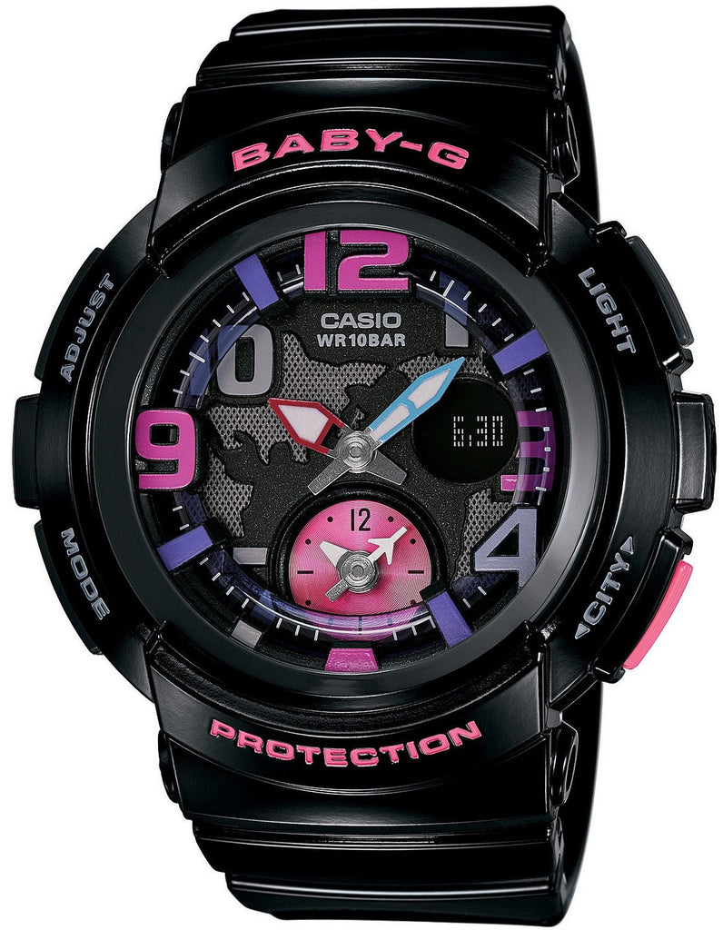Casio Baby-G Analog-Digital BGA-190-1BDR Watch (New with Tags)