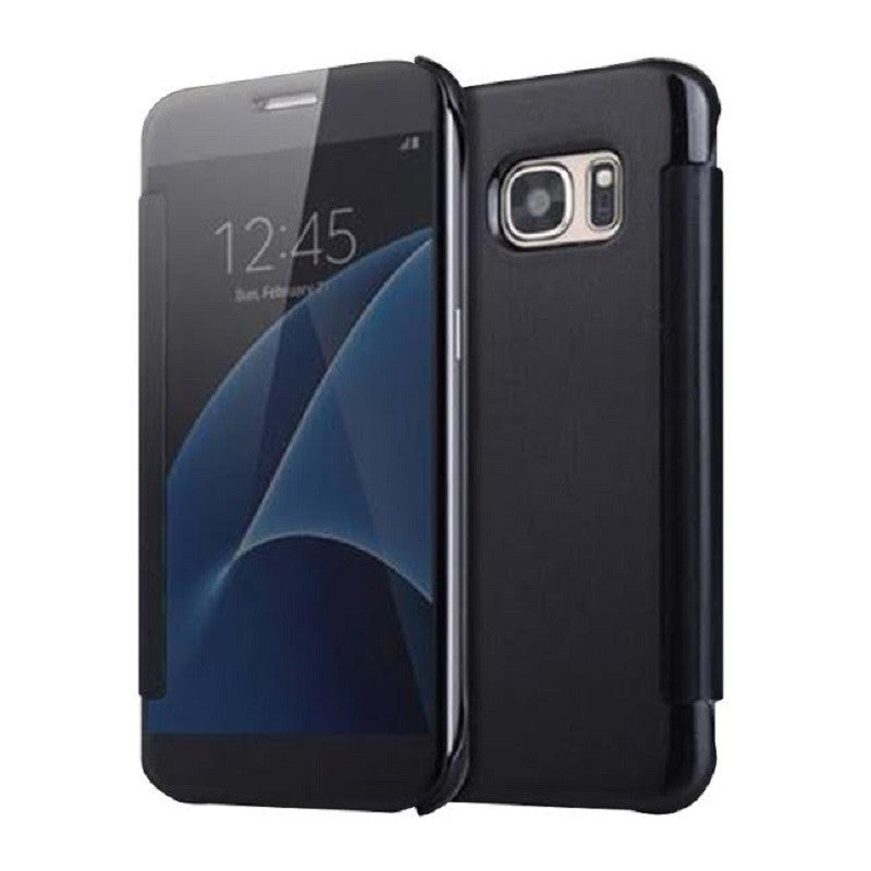 Smart Cover Phone Shell with Clip for Samsung S7 (Classic Black)