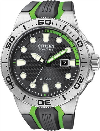 Citizen Eco-Drive Scuba Fin Iso Cert. Divers BN0090-01E  Watch (New with Tags)
