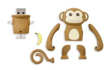 Bone Collection Banana Monkey Driver 16GB USB 3.0 DR13021-8BR (Brown)