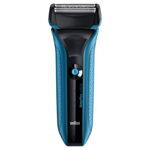 Braun WF2S WaterFlex Wet and Dry Electric Shaver (Blue)
