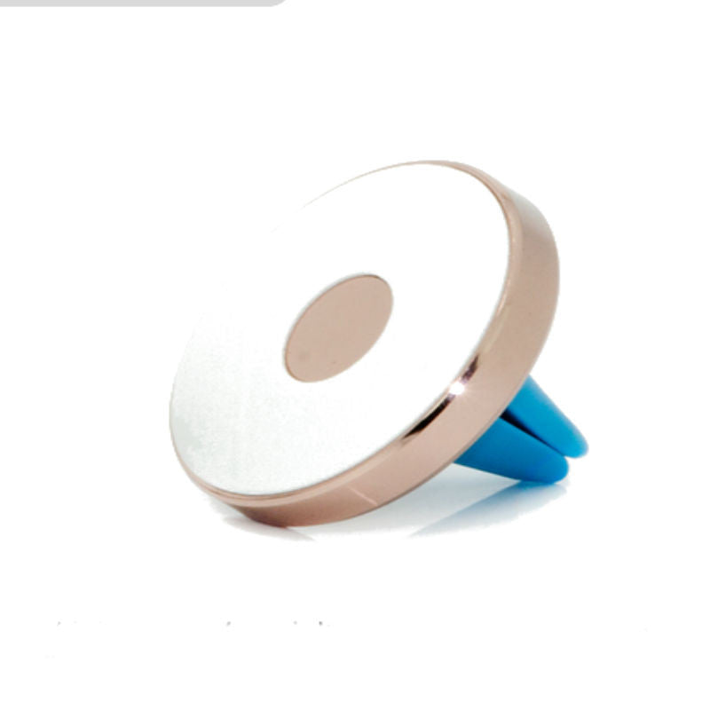 Non-Magnetic Micro Base Car Phone Holder for Mobile (Rose Gold)