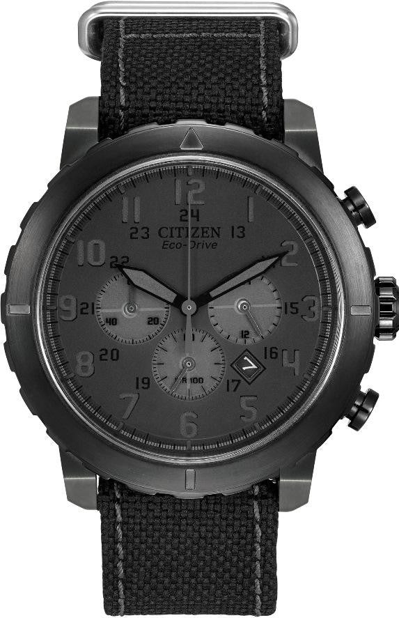 Citizen Eco-Drive Military Chronograph CA4098-06E Watch (New with Tags)