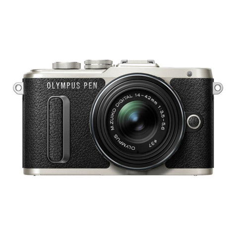 Olympus PEN E-PL8 Mirrorless Micro Four Thirds with M.Zuiko 14-42mm Lens Black Digital Camera
