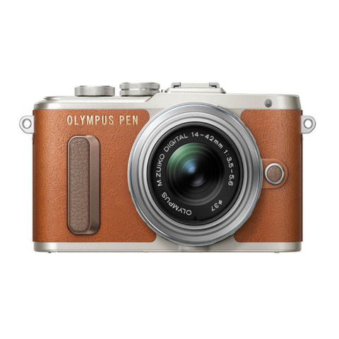 Olympus PEN E-PL8 Mirrorless Micro Four Thirds with M.Zuiko 14-42mm Lens Brown Digital Camera