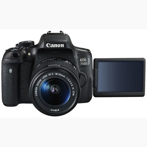 Canon EOS 750D with 18-55mm Black Digital SLR Camera