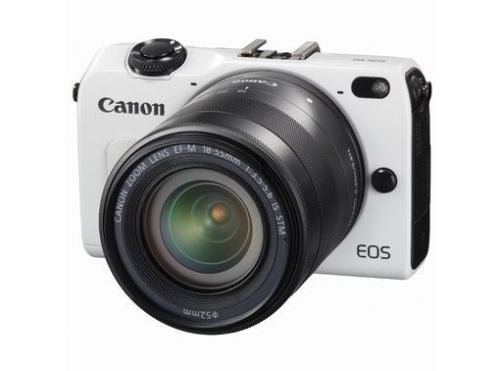 Canon EOS M2 with 22mm and 18-55mm, 90EX Flash and EF Adapter White Digital SLR Camera