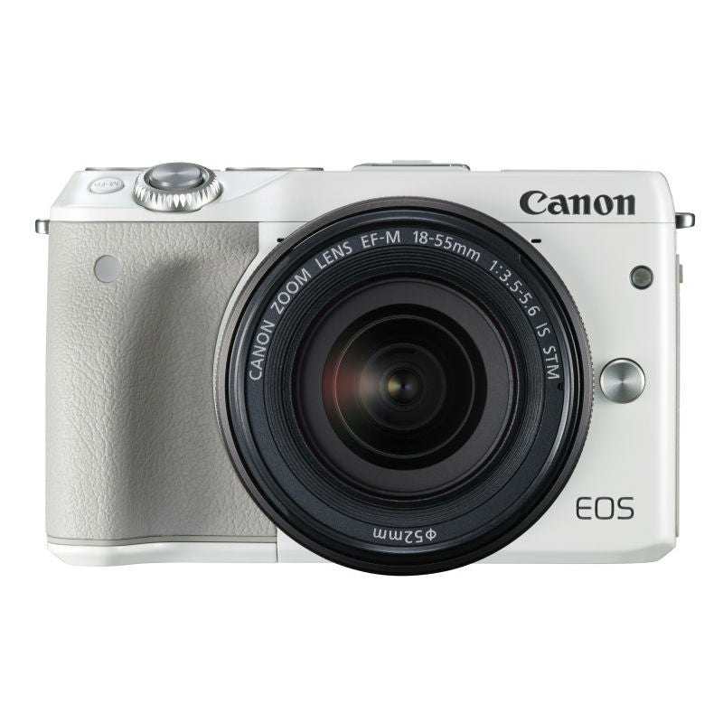 Canon EOS M3 with EF-M 15-45mm f/3.5-6.3 IS STM Lens White Digital SLR Camera