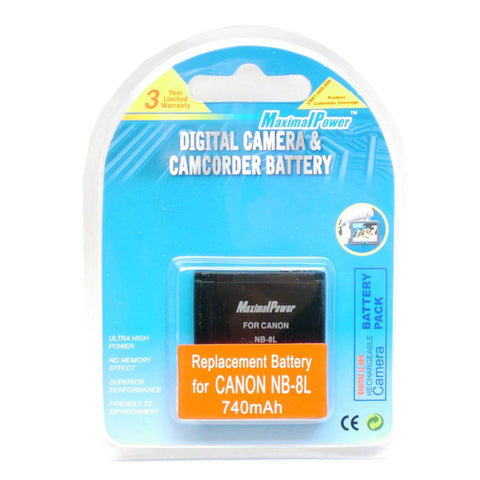 Maximal Power (Canon) NB-8L Generic Battery