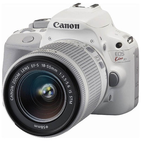 Canon EOS Kiss X7 Kit with EF-S 18-55mm and EF 40mm Lens White Digital SLR Camera