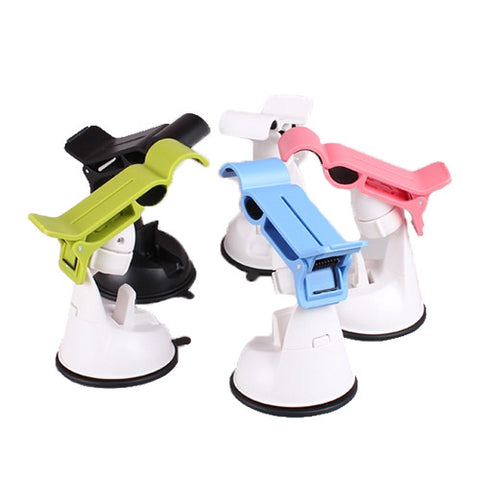Universal Car Suction Mount Smartphone and GPS Holder Black