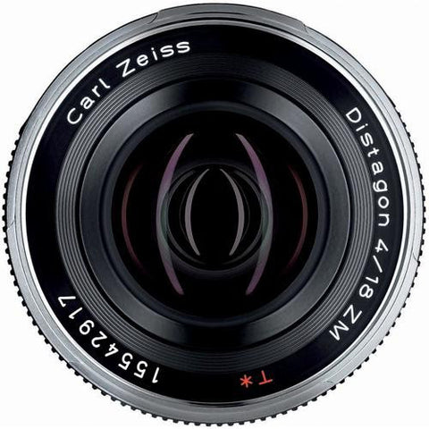 Carl Zeiss Distagon T* ZM 18mm f/4 for Leica M Black Lens