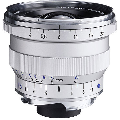 Carl Zeiss Distagon T* ZM 18mm f/4 for Leica M Silver Lens