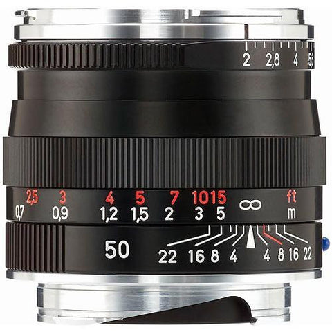 Carl Zeiss Planar T* ZM 50mm f/2 for Leica M Black Lens