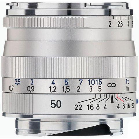 Carl Zeiss Planar T* ZM 50mm f/2 for Leica M Silver Lens