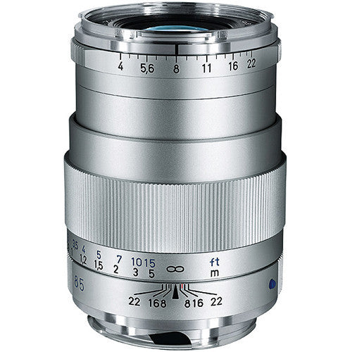 Carl Zeiss Tele-Tessar T* 85mm f/4 for Leica M Silver Lens