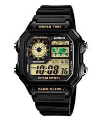 Casio Classic Digital AE-1200WH-1BVDF Watch (New with Tags)