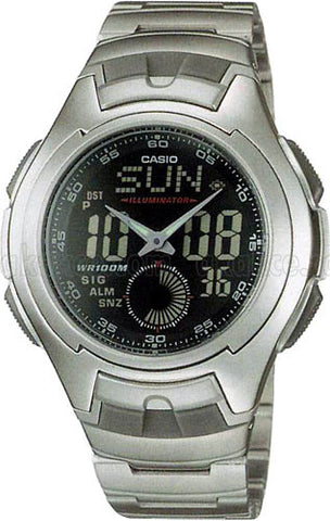 Casio Classic Analog- Digital AQ-160WD-1BVDF Watch (New with Tags)