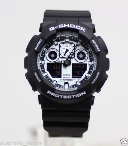 Casio G-Shock Black and White GA-100BW-1A Watch (New with Tags)