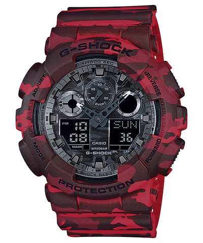 Casio G-Shock Special Color Model GA-100CM-4ADR Watch (New with Tags)