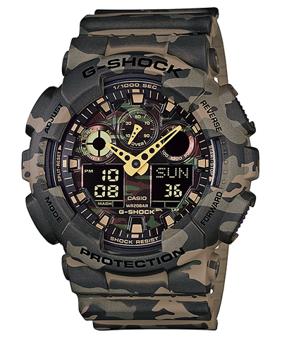 Casio G-Shock Special Color Model GA-100CM-5ADR Watch (New with Tags)