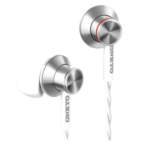 Onkyo E700BT In-Ear Wireless Headphones with Microphone (White)