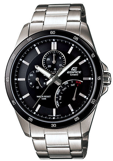 Casio Edifice Multi-Hand Analog EF-341D-1A Watch (New with Tags)