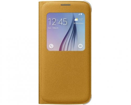 Samsung S-View Fabric Cover to suit Galaxy S6 EF-CG920BYEGWW (Yellow)