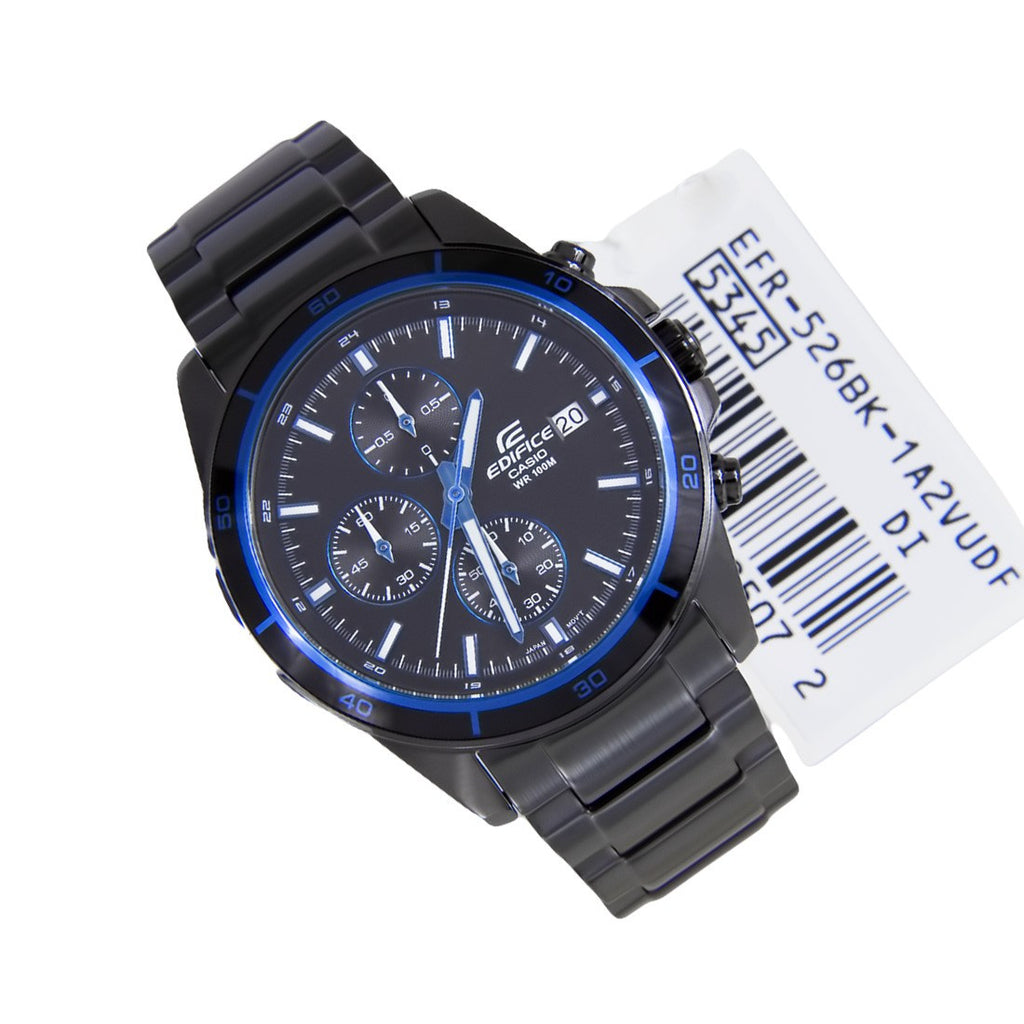 Casio Edifice EFR-526BK-1A2 Watch ( New with Tags)