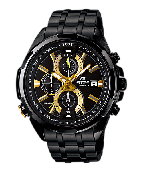 Casio Edifice Chronograph EFR-536BK-1A9 Watch (New with Tags)