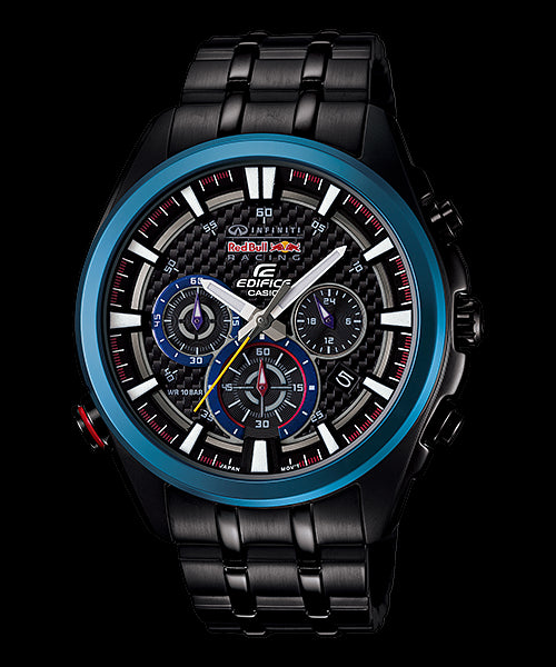 Casio Edifice Chronograph EFR-537RBK-1A Watch (New With Tags)