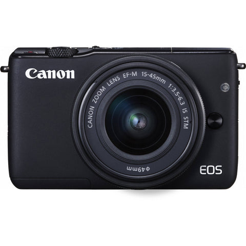 Canon EOS M10 with EF-M 15-45mm f/3.5-6.3 IS STM Lens Black Digital SLR Camera