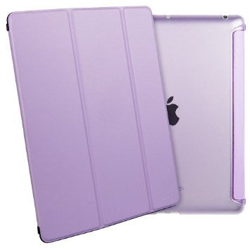 iPad Mini 4 Flip Cover with Soft Silicon Edge hard Back Case (Violet)