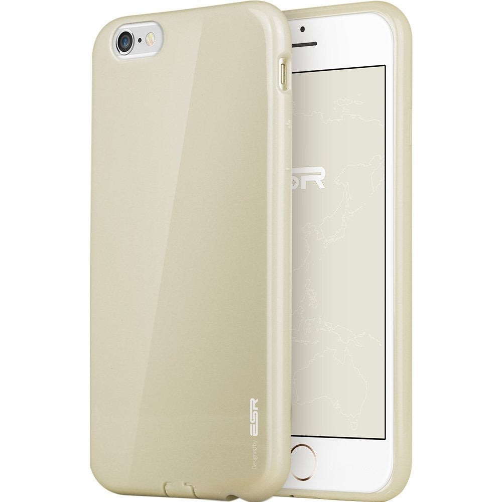iPhone 6/6s Plus Silicon Color Case (Champagne)