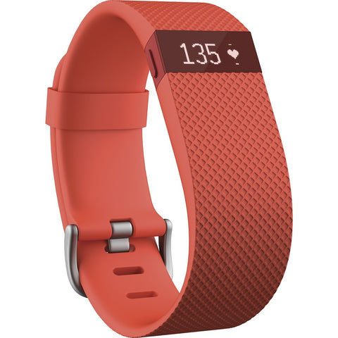 Fitbit Charge HR FB405TAS Wireless Heart Rate and Acitvity Wristband Small (Tangerine)