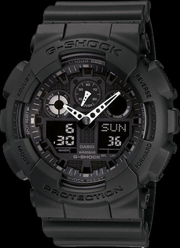 Casio G-Shock Standard Analog-Digital GA-100-1A1DR Watch (New With Tags)