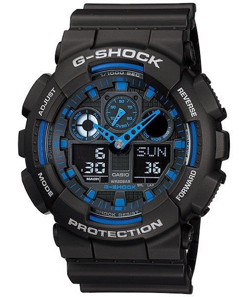 Casio G-Shock Standard Analog-Digital GA-100-1A2DR Watch (New With Tags)