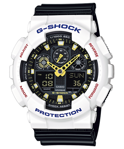 Casio G-Shock Standard Analog-Digital GA-100CS-7ADR Watch (New with Tags)
