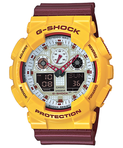 Casio G-Shock Standard Analog-Digital GA-100CS-9ADR Watch (New with Tags)