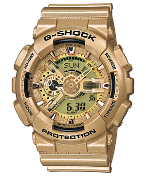 Casio G-Shock Standard Analog-Digital GA-110GD-9ADR Watch (New with Tags)
