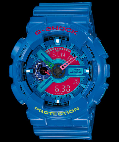Casio G-Shock Standard Analog-Digital GA-110HC-2ADR Watch (New With Tags)