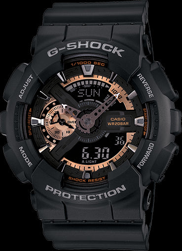 Casio G-Shock Standard Analog-Digital GA-110RG-1ADR Watch (New With Tags)
