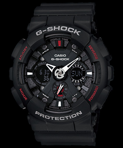 Casio G-Shock Standard Analog-Digital GA-120-1ADR Watch (New With Tags)