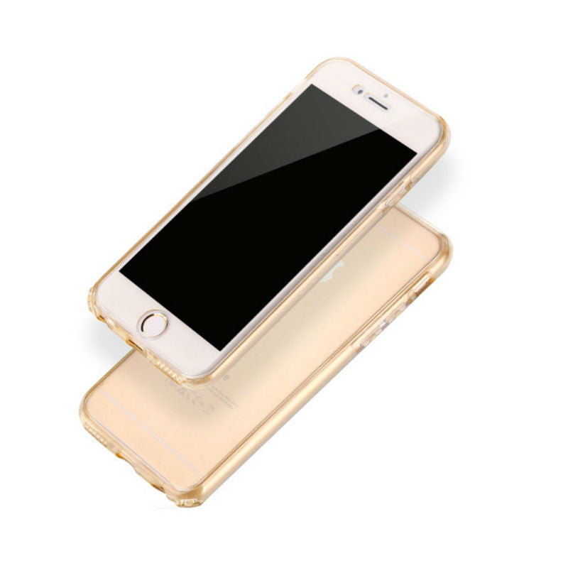 Ultra-thin Protective Soft Shell 360 Case 5.5 inches for iPhone 7 Plus (Gold Tyrant)