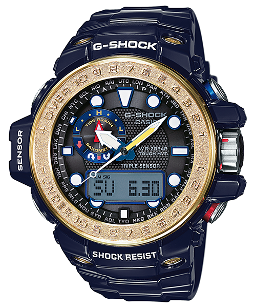 Casio G-Shock Gulfmaster Triple Sensor GWN-1000F-2A Watch (New with Tags)