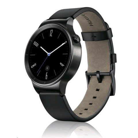 Huawei Black Leather Smart Watch (Black Case)